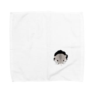 こっそりハムスター Towel handkerchiefs