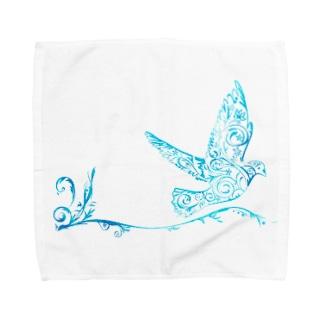 青い翼 Towel handkerchiefs