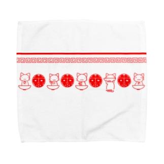 きねこラーメン Towel handkerchiefs