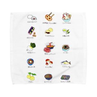 鹿児島名物イラスト Towel handkerchiefs
