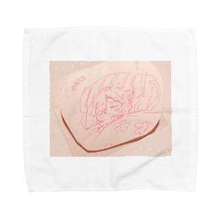 すやすやにあちゃん Towel handkerchiefs