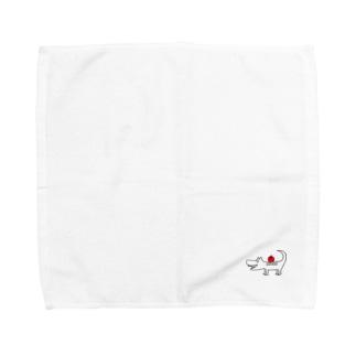 わにいぬとりんご Towel handkerchiefs