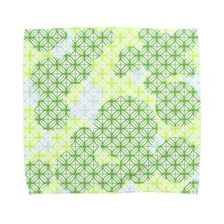 木漏れ日の七宝柄(クリア) Towel handkerchiefs