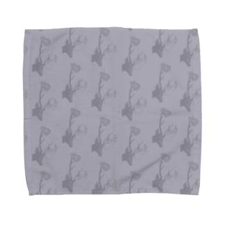 deers(パープル) Towel handkerchiefs