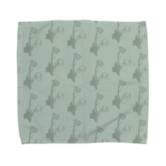 deers(グリーン) Towel handkerchiefs