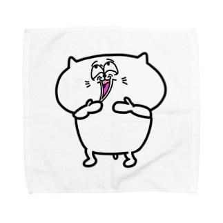 ウケケケと笑う猫 Towel handkerchiefs