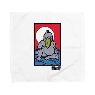 極道ハシビロコウ01 Towel handkerchiefs