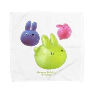 ブドウサギ Towel handkerchiefs