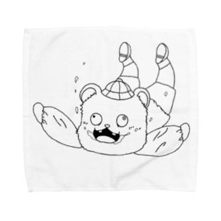 スカイダイビングするクマ Towel handkerchiefs
