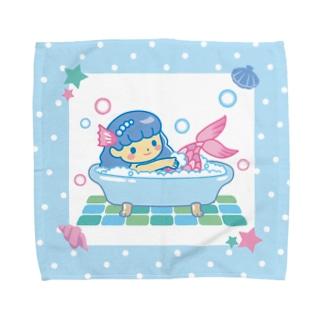 あわあわおふろ人魚 Towel handkerchiefs