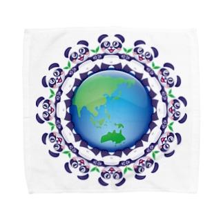 エコロジー☆パンダちゃん Towel handkerchiefs