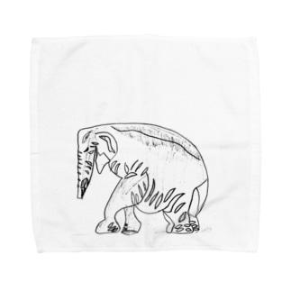 インドゾウ Towel handkerchiefs