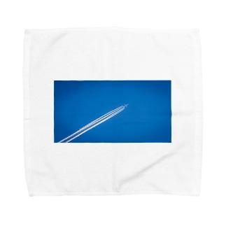 飛行機雲 Aerial cloud Towel handkerchiefs