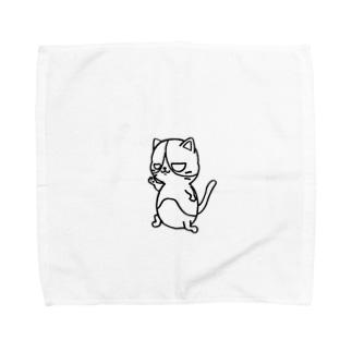 Posing cat Towel Handkerchief