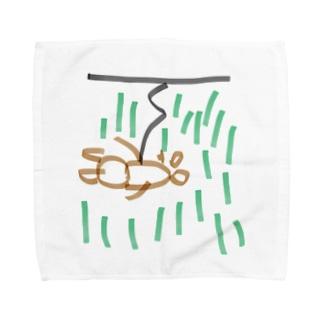 バンジージャンプ、森野クマさん Towel handkerchiefs