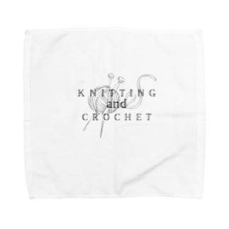 編み物好き好きアピール(simple) Towel handkerchiefs