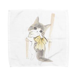 みかえりねこ Towel handkerchiefs