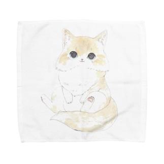 おすわりねこ Towel handkerchiefs