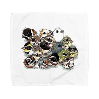 ホオジロの仲間たち Towel handkerchiefs