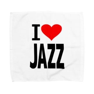 愛 ハート JAZZ ( I  Love JAZZ ) Towel handkerchiefs