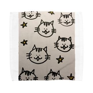 星くずにゃんこ Towel handkerchiefs