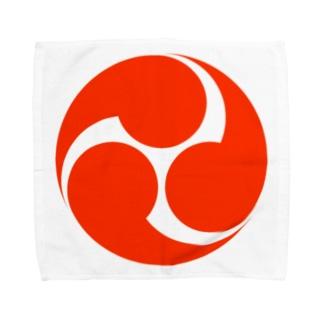 赤三つ巴 Towel handkerchiefs