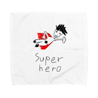スーパーヒーロー  ディヴィット Towel handkerchiefs