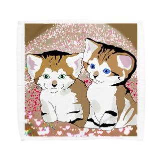 スナネコ兄妹 来夢くんと来苺ちゃん Part2 Towel handkerchiefs