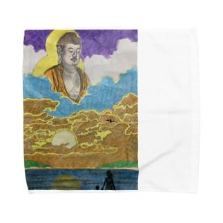 はるかなる阿弥陀 Towel handkerchiefs