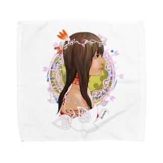 アメリカ大陸の少女B Towel handkerchiefs