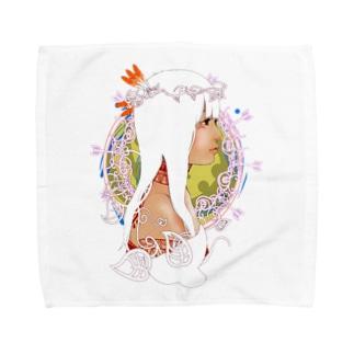 アメリカ大陸の少女C Towel handkerchiefs