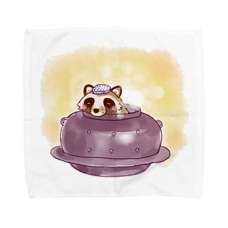 お風呂たぬき Towel handkerchiefs