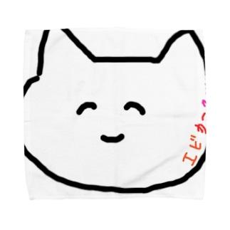 うんてぃ ほっぺに文字 Towel handkerchiefs