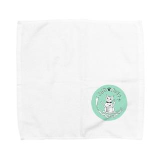369-cat ロゴマーク Towel handkerchiefs