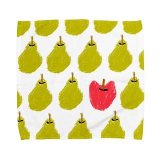 なしとりんご Towel handkerchiefs