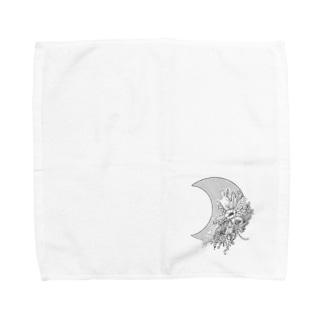 月と花② Towel handkerchiefs