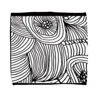line、flower Towel handkerchiefs