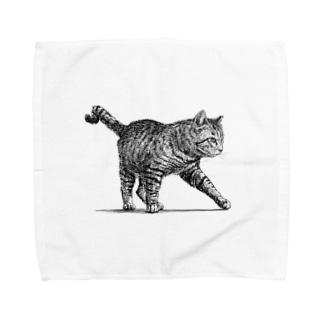 【野良猫の行進】 タオルハンカチ