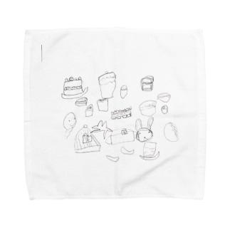 うさぎケーキ Towel handkerchiefs