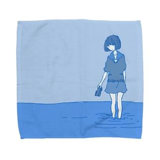 青は世界 Towel handkerchiefs