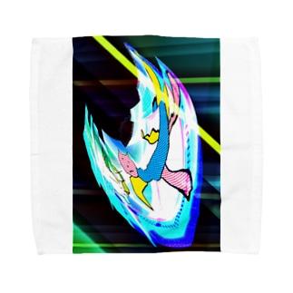 宇宙を旅してきた猫、猫マン Towel handkerchiefs
