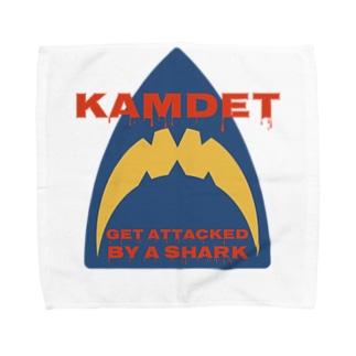 カムデット kamdet  シャークロゴデザイン Towel handkerchiefs