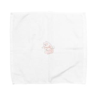 イヌ肩に乗れない Towel handkerchiefs