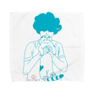 ネコが好き Towel handkerchiefs
