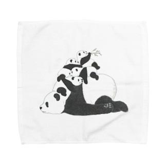 積みパンダ Towel handkerchiefs