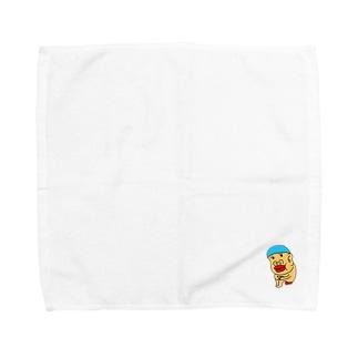 水泳帽うんちのレンくん Towel handkerchiefs