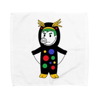 カラフルペンペンピッグボーイ Towel handkerchiefs