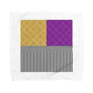 和柄(お芋カラー) Towel handkerchiefs