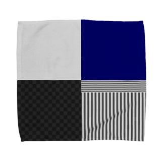 和柄(灰/紺) Towel handkerchiefs