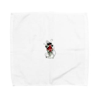 猫叉御手印シリーズ Towel handkerchiefs